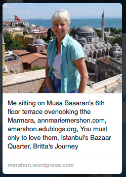 Ann Marie over Istanbul, annmariemershon.com, amershon.edublogs.org