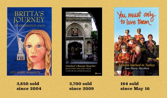 Mershon book sales as of June 2016, annmariemershon.com, amershon.edublogs.org