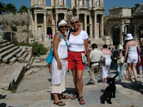 Jana & Ann Marie, Ephesus, Turkey-A Writer's Angst