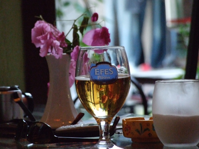 Efes in Kalkan coffee shop