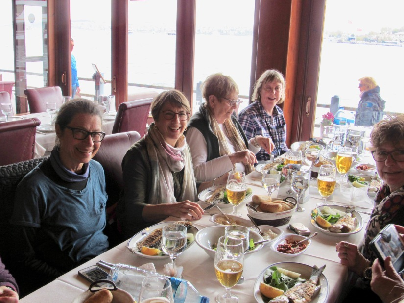 fish lunch on the Galata Bridge