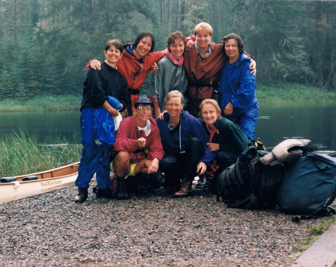 Ladytrippers, canoe trip