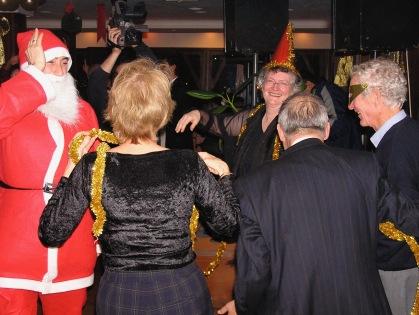 Santa dancing with us